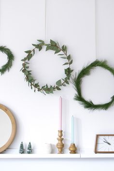 With the same greens that I used for my gift wrapping, I made a couple of Christmas wreaths. Because I didn't have any thick wire at home, I used an old electricity wire. Luckily it was brown so it came out looking pretty natural! With thin wire I attached the twigs to the circles. I …