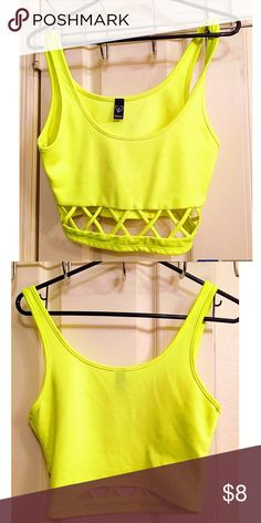 Windsor neon crop top Cute neon crop top with cutouts at the bottom. WINDSOR Tops Crop Tops