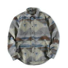 Long Sleeve Flannel Shirt Men Vintage Casual Hip Hop Mens Shirts Palace  Streetwear Punk Rave Fashion Vestido Man Blouse C7009. Yesterday s price   US  53.86 ... 8ebc683ceed