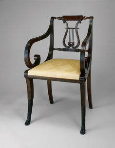 1815 Federal carved armchair, NYC, mah, 33t. Art Institute Chicago