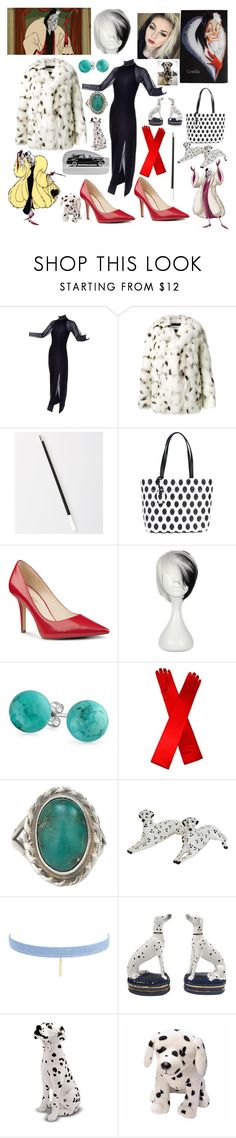 """""""If she doesn't scare you then no evil thing will"""" by fandom-girl365790 ❤ liked on Polyvore featuring Disney, ELSE, Tadashi, Yves Saint Laurent, Kate Spade, Nine West, 1937 and Jules Smith"""