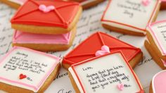 In a world so technologically driven, receiving a hand written letter can be rare, but luckily on Valentine& Day we can get close to reliving that nostalgia by receiving a pink and red envelope wi. Valentines Day Love Letters, Creative Kids Snacks, Red Envelope, Handwritten Letters, Letter Writing, Cookie Decorating, Hand Written, Lettering, Decorated Cookies