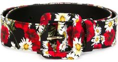 Dolce & gabbana daisy and poppy print belt