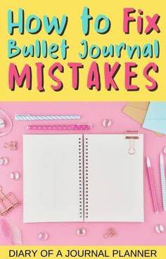 The best tips, tricks and hacks you need to know to fix your bullet journal mistakes! #bulletjournalhacks #bujo #planneraddict Bullet Journal Hacks, Bullet Journal Printables, Fix You, Bujo, Mistakes, How To Plan, Tips, Counseling