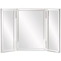 Howard Elliott Tripoli Trifold Vanity Mirror - x in. - The Howard Elliott Tripoli Trifold Vanity Mirror - x in. provides a charming tabletop accent for your transitional-style vanity. This wide,. Tabletop Vanity Mirror, Wood Vanity, Mirror Trim, Mirror Panels, Wall Mirror, Door Mirrors, Mirror Collage, Framed Wall, Design Websites