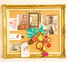 Antique Bulletin Board - I have the perfect frame in mind for this!