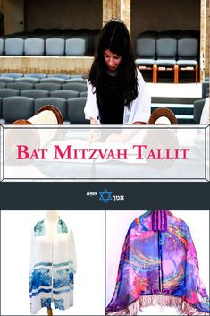 Get your Bat Mitzvah girl one of these gorgeous & colorful Tallit prayer shawls - handmade by the most talented Jewish Tallit designers in the world Jewish Tallit, Messianic Judaism, Prayer Shawl, Coming Of Age, Bat Mitzvah, Shawls, Event Planning, Amen, Party Themes
