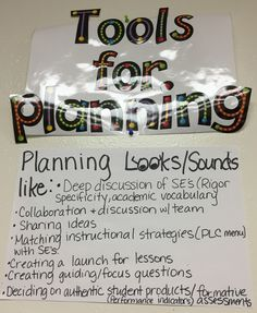 """Close up of the """"Tools for Planning"""""""
