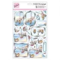 Anitas Foiled Decoupage - By The Seaside - Anitas from Mountain Ash Crafts UK