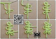Decorative paracord designs and tutorials like the Cobra Stitch. More advanced tutorials: Paracord Bracelet Jigs and Globe Knot Turk's Head Knots.