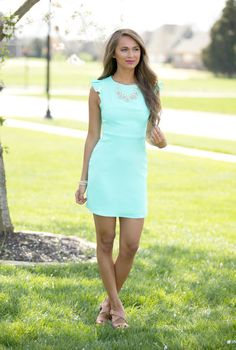 I'll Always Need You Dress Mint - The Pink Lily