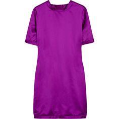 Burberry Prorsum Satin dress ($985) found on Polyvore