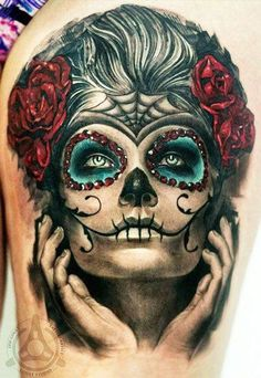 Love this sugar skull look