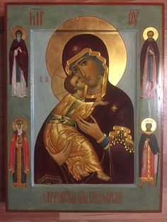Mother of God Religious Pictures, Religious Icons, Religious Art, Russian Icons, Russian Art, Byzantine Icons, Madonna And Child, Art Icon, Orthodox Icons