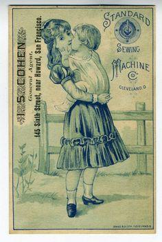 1890s Trade Card Standard Sewing Machine SF CA