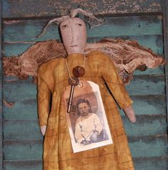 Primitive Angel Pattern Holiday I Believe by stitchintimepatterns