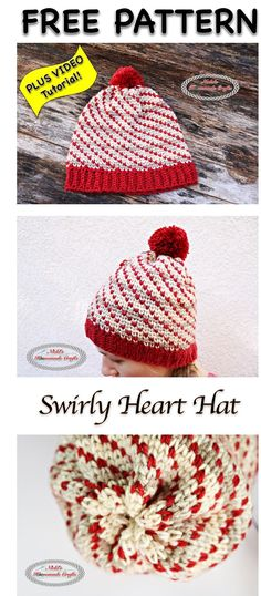 Swirly Heart Hat - Free Crochet Pattern