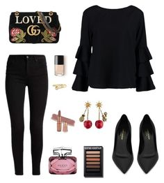 """""""Untitled #366"""" by noorose on Polyvore featuring Boohoo, Yves Saint Laurent, Gucci and J.W. Anderson"""