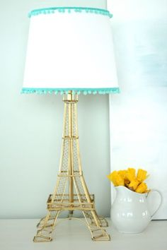 eiffel tower lamp makeover
