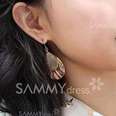 $2.51 Retro and Elegant Style Pair Leopard Pattern Waterdrop Shape Earrings