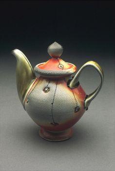 Lorna Meaden, porcelain soda fire teapot