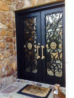 Door design modern 357965870385789581 – Home Decor – womenstyle. Iron Gate Design, House Gate Design, House Front Design, Double Door Design, Main Door Design, Iron Front Door, Double Doors Exterior, Wrought Iron Doors, House Doors