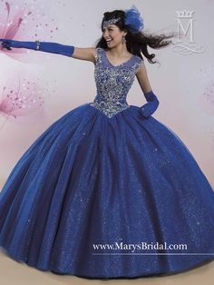 Elegant and timeless, light up the room in a Mary's Bridal Princess Collection Quinceanera Dress Style 4Q401 at your Sweet 15 party or at any formal event. Sleeveless quinceanera ball gown with beaded