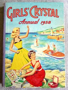 Excited to share the latest addition to my shop: Vintage Girl's Crystal Annual Vintage Book Covers, Vintage Children's Books, Vintage Girls, Antique Books, Vintage Travel, Vintage Ads, Vintage Photos, Used Books, My Books