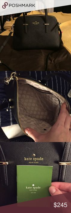 Kate Spade Small Maise -Never used- Brand new, never used black Kate Spade Maise. Can be worn as shoulder bag. kate spade Bags