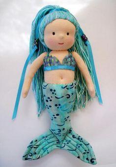 Name: 'Sewing : Waldorf-Inspired Mermaid Doll Felt Dolls, Baby Dolls, Mermaid Dolls, Mermaid Art, Waldorf Dolls, Waldorf Crafts, Handmade Christmas Gifts, Christmas Presents, Disney Dolls