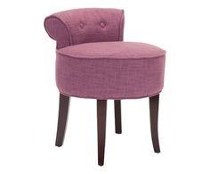 #Sgabello in betulla e viscosa georgia rosa colore Marrone rosa ad Euro 199.00 in #Safavieh it #Furniture chairs stoolspoufs