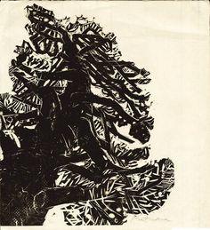 Naoko Matsubara - Into the sky Walden Paper size: 36 x cm. Japanese Prints, Japanese Art, Linocut Prints, Art Prints, Bear Sketch, Linoprint, Bear Art, Black And White Illustration, Monochrom