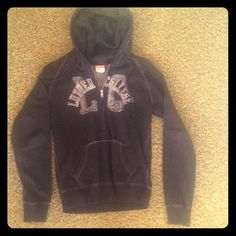 Luther College Sweatshirt Black, half zip Luther College hoodie. Very soft and fuzzy on the inside. Camp David Sweaters