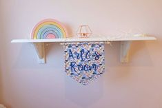 Liberty print wall hanging / door sign customisable – And so to Shop