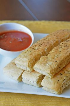 Parmesan Breadsticks..........add shredded motzorella a few minutes before they are done...and double yummy!!!