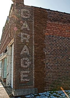 Garage Ghost Sign in Roseville, Illinois.