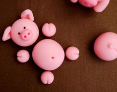 Piggies Swimming In The Mud Cake Topper by SweetBriarCelebrates