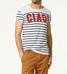 Camiseta estilo gondolero de Zara