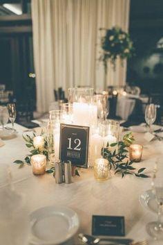 Flowerless Centerpieces, Vintage Wedding Centerpieces, Greenery Centerpiece, Centerpiece Ideas, Wedding Favors, Simple Centerpieces, Inexpensive Wedding Centerpieces, Simple Wedding Decorations, Round Table Decorations