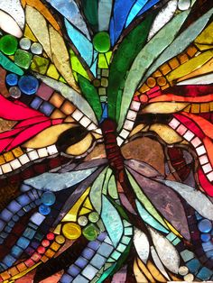 Glass mosaic butterfly