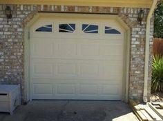 Beautiful Short Panel Garage Door with Full Sunray Windows