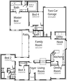 1000 images about house plans on pinterest house plans for Modern house plans 2400 sq ft