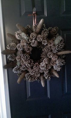 The Pincone Wreath I made on December 23, 2012.
