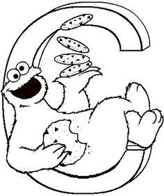 sesame street - C - The Letter C - Cookie Monster - colouring pages Letter C Coloring Pages, Monster Coloring Pages, Cat Coloring Page, Colouring Pages, Printable Coloring Pages, Coloring Pages For Kids, Coloring Sheets, Coloring Books, Sesame Street Crafts