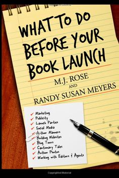 What to do Before Your Book Launch by M. Rose and Randy Susan Meyers. This is a little gem of a book with a lot of practical advice. Writing Quotes, Fiction Writing, Writing Advice, Writing Resources, Writing A Book, Writing Prompts, Writing Ideas, Story Prompts, Creative Writing