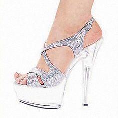 sandálias plataforma sapatos de salto stiletto sapatos femininos mais cores disponíveis – BRL R$ 188,07
