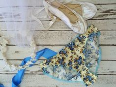 Salvia' Bikini Knickers Blue Floral Bridal by 1LuckySewandSew