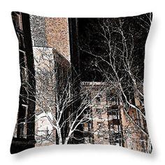 Ft Washington Ave in Sepia Throw Pillow  http://fineartamerica.com/products/ft-washington-ave-in-sepia-sarah-..  #throwpillows #sarahloft #digitalart #digital #cities #cityscapes