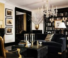 Love love loooove this black and gold room!