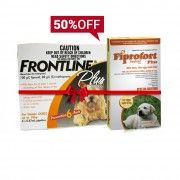 Buy Fiprofort Plus For Small Dogs & Seize A Special 50% Off On Frontline Plus For Small Dogs!  To Kill #fleas and #ticks from your charming small dogs at just $33.00  #genericfrontlineplus #dogcare #petcareproducts #fleaandtickprevention